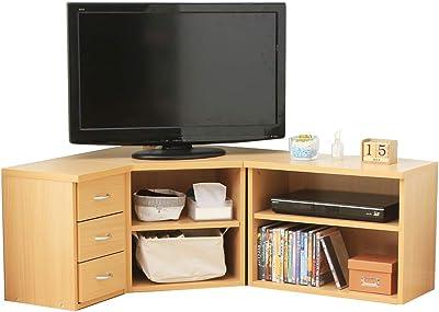 アイリスプラザ テレビ台 32型 コーナー テレビボード 組み換え自由自在 収納 幅75㎝ ナチュラル
