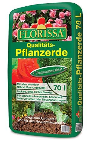 Florissa - Tierra para plantas, 70 litros, producto de calidad para jardín, árbol, plantas