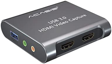 Acasis 4K 1080P HDMI Video Capture Card USB 3.0 HD Recorder for Game Video Live Streaming Compatible for PS4 Xbox PC Swich Moilbe Phone