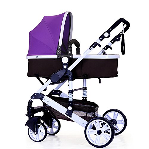 Fantastic Prices! Stroller Can Sit Reclining Fold Light High Landscape Two-Way Shock Baby Stroller 0...