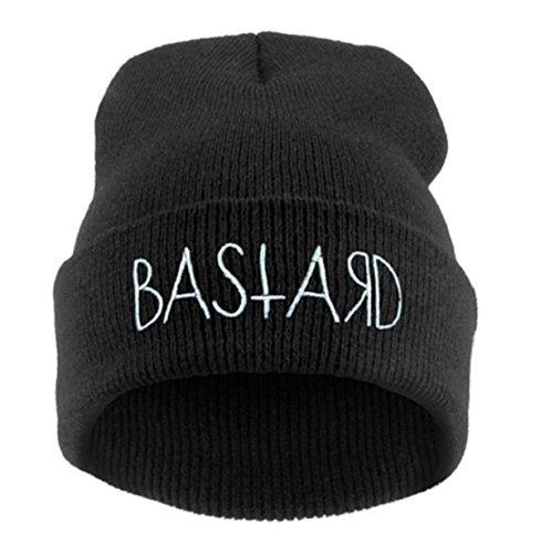 Morefaz Beanie Hat Bonnet Fashion Jersay Oversize Bad Hair Day Bastard Diamond Bastard
