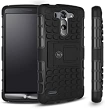 LG G3 Case, LG G3 Armor Cases- Tough Armorbox Dual Layer Hybrid Hard/Soft Protective Case by Cable and Case? - Blue Armor Case