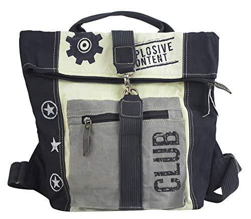 Sunsa Rucksack Damen Herren Canvas & Leder Tasche groß Umhängetasche Big Bag Vintage Taschen Backpack Weekender Sporttasche Mädchen Rucksäcke Crossbody Daypack