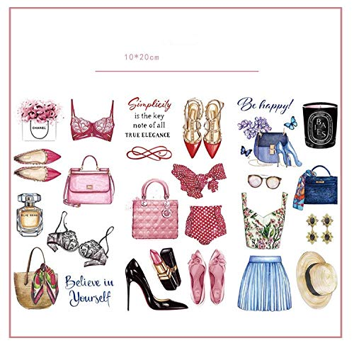 3pcs/lot Fashion Girl clothes Journal Decorative Stickers set Scrapbooking Stick Label Diary Japanese Stationery Album Stickers