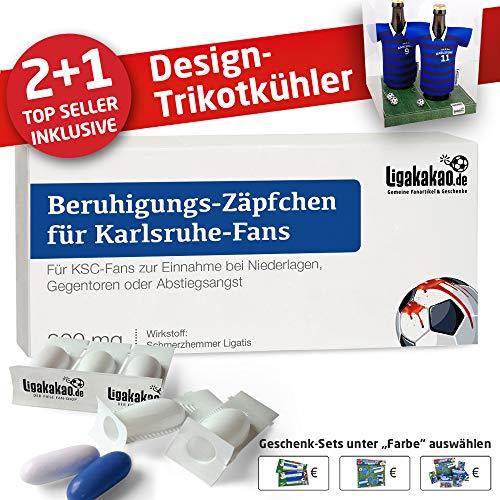 Alles für Karlsruhe-Fans by Ligakakao.de Home-Trikot ist jetzt Mein TRIKOTKÜHLER Geschenk-Set (2X Trikots + 1 ZÄPFCHEN)