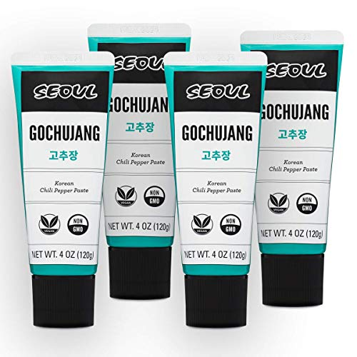 Lucky Foods Seoul Gochujang Chili Paste (Pack of 4 - 4oz tubes)