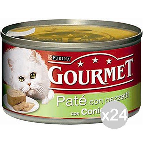 Purina Juego 24 Gourmet latas Conejo Gr 195 Pate Comida para Gatos: Amazon.es: Productos para mascotas