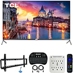 TCL AUTHORIZED DEALER - Includes Full TCL USA WARRANTY TCL 55R625 55-inch 6-Series 4K UHD HDR Roku Smart TV (2019 Model) Wide Color powered by Quantum Dot technology INCLUDED IN THE BOX: TCL 55R625 TV | Warranty Info | Quick Start Guide | Detachable ...