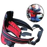 ONEVER Cintura Di Sicurezza Per Moto Per Bambini, Imbracatura Di Sicurezza Per Bambini Regolabile Per Seggiolino Auto - Cintura Di Sicurezza Per Bambini (rossa)