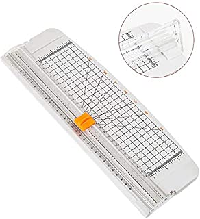 Rubik A4 Size Paper Cutter Trimmer with Finger Protection for Scrapbooking Documents Photographs Images Labels - Grey