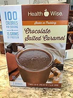 Healthwise Chocolate Salted Caramel Shake or Pudding - 100 Calorie