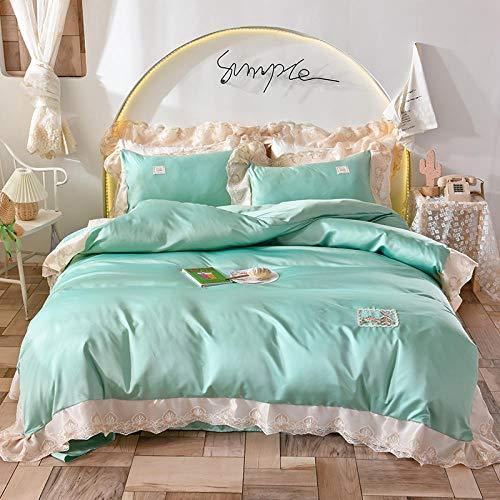 Bedding-LZ Set Copripiumino Singolo,Set di Lavaggio in Acqua Estate Princess Princess PRINCIFICATORE-2,0 m (4 Pezzi)_Un