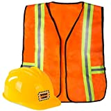 Funny Party Hats Construction Worker Costume for Kids - Construction Costume - Construction Hat and Costume Vest Yellow