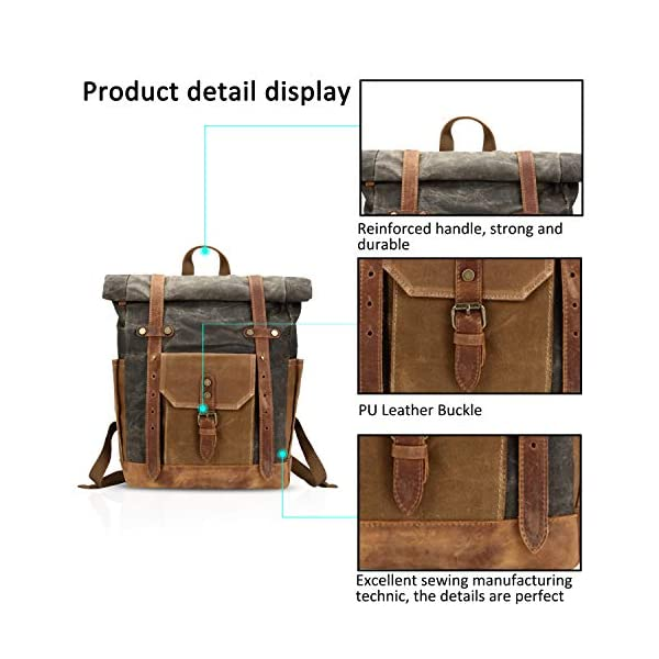 51ieo+DpA9L. SS600  - FANDARE Moda Impermeable Bolso de Escuela Viaje Mochila Hombres 15.6 Pulgadas Laptop Backpack Outdoor Camping Gran…