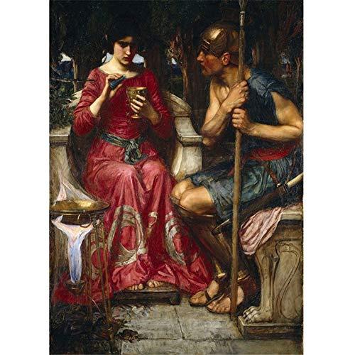 arteWOODS John William Waterhouse: Jason und Medea Gemälde Leinwandkunst Drucke Wandkunst für Wohnzimmer Schlafzimmer Dekor 60x90cm ohne Rahmen