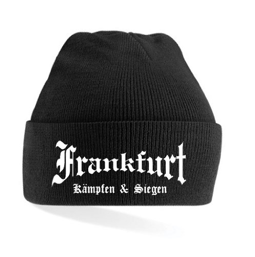 Frankfurt Ultras Kämpfen & Siegen Strickmütze Black