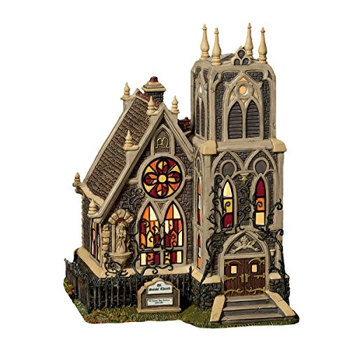 """Dept 56 Dickens Village All Hallows' Eve """"All Saints Church"""" Porcelain Holiday Building"""