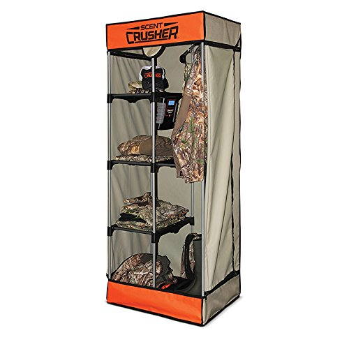 Review Of Scent Crusher Flexible Portable Hunter Travel Closet with Ozone Generator for Scent Removal