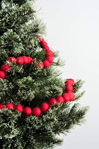 Nivas Christmas Tree Decoration/Christmas Garland/Ball Felt Garland/Holiday Banner/X-Mas Decoration/Holiday Home Decoration/Christmas Felt Decor/Wool Felt (Red)