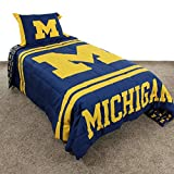 College Covers Michigan Wolverines Comforter Set, Queen, Team Color
