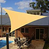 Artpuch 12' x 12' x 12' Triangle Sun Shade Sails 185GSM Shade Sail UV Block for Patio Garden Outdoor Facility and Camping
