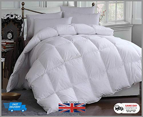 Deluxe Duck Feather & Down Duvet Quilt 15.5 TOG Bedding New Hotel Quality in Single Double King Superking (Double)