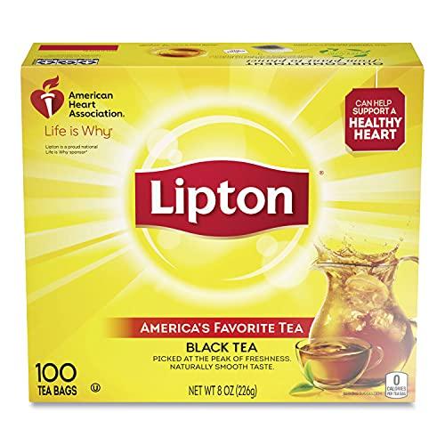 lipton black teas Lipton Black Tea, 100 Bags Per Box
