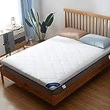 HM&DX Plegable Dormitorioir Colchón, Telar Poliester Antiescaras Grueso Futón Colchón Suelo Tatami para Dormitorio Alcoba -Blanco 135x200cm(53x79inch)