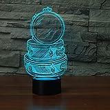 3d night light Novelty Drum Set 3D Night Light Building Light LED Night Lamp USB Remote Touch Lámpara de mesa colorida USB Nightlight para Kid Gift