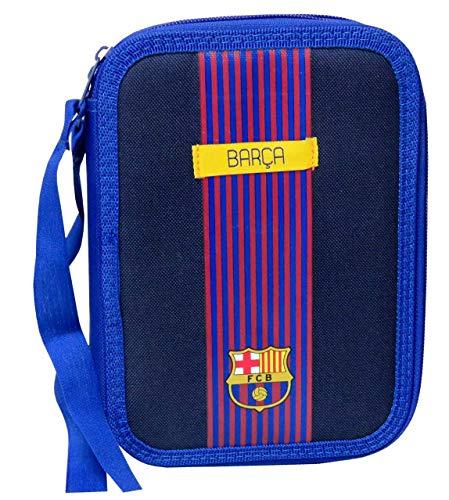 FC Barcelona EP-691-BC Plumier 2 Pisos con Material Escolar
