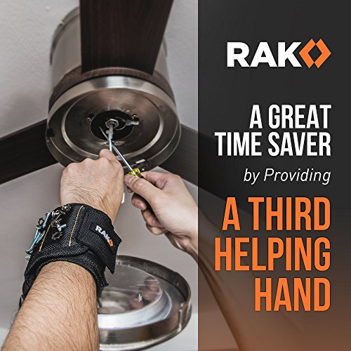 Product Image 4: RAK Magnetic Wristband with Strong Magnets for Holding Screws, Nails, Drill Bits for DIY Handyman, Father/Dad, Husband, Boyfriend, Him, Men, Women (Black)