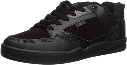 Etnies Hommes's Cartel Faible Top chaussures noir Blk gris