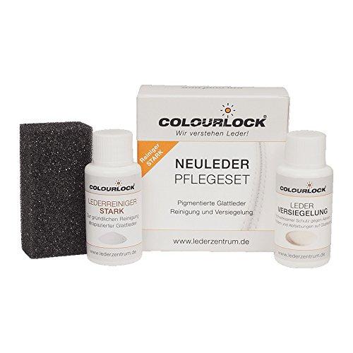 COLOURLOCK® Glattleder Pflegeset mit Leder Versiegelung Mini mit Lederreiniger stark, reinigt und versiegelt Leder (Auto, KFZ, Möbel, Lederjacke)