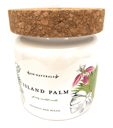 DW Naturals Island Palm Coconut Wax Blend Candle 15 Oz