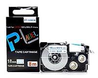カシオ ネームランド用 互換 テープカートリッジ 18mm XR-18WEB 白地青文字