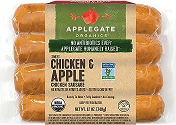 Applegate, Organic Chicken & Apple Sausage, 12oz