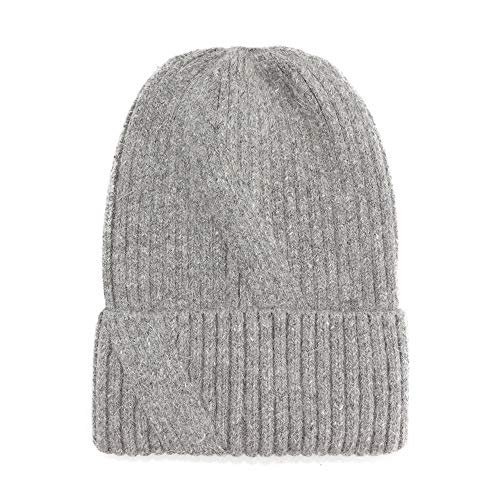 Best Bargain RZDJ Cap,Wool Knit hat Autumn and Winter Wool hat Quick Headgear (Color : Grey, Size : ...