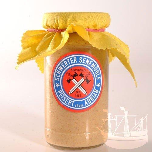Honig Senf, im Glas, 'ohne Zuckerzusatz', passt zu Käse, Fisch & Weisswurst, 185ml - Bremer Gewürzhandel