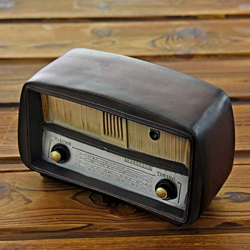 Home Decorations Simulatie Radio Hars Ambachten Nostalgic huis Living Room Bar Decorations Retro Piggy Bank Gifts ornamenten ZHQHYQHHX