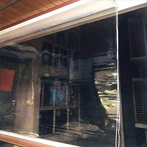 Patio al aire libre pérgola polvo a prueba de polvo ciegas de rodillo transparente, balcón para el hogar, tonos de plástico, a prueba de lluvia y a prueba de viento, estornudos de oficina ciego