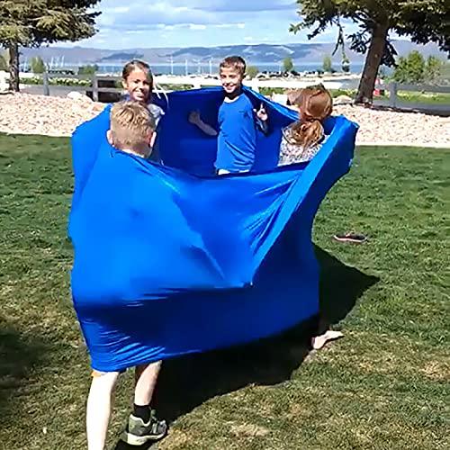 Fidget Toy wuayi Pop It Fidget Toys Lycra Tube Stützräder Spiel Beste Outdoor-Spiele Team--Aktivitäten Großes, dehnbares sensorisches für die meisten Menschen und Familie (Umfang 2M)