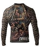 Raven Fightwear Men's Archangel MMA BJJ Rash Guard Black Medium