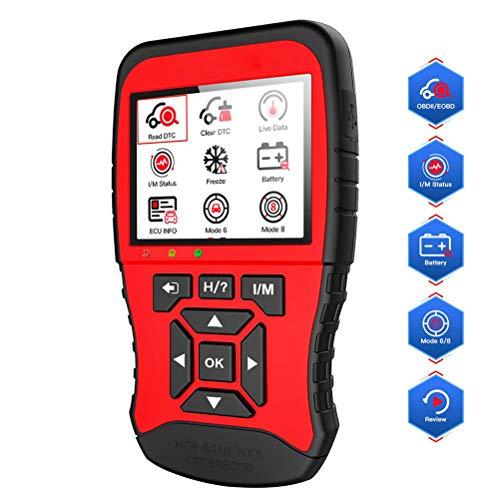 OBD 2-Autodiagnosewerkzeug, Autoscanner, Einfrieren und Abrufen der Fahrgestellnummer, I / M, Abschalten der Mil, Test des Automotors, Lesen und Löschen von Codes, 16-poliger Standard-OBD II-Anschlu