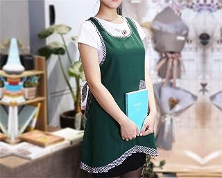 YXDZ YXDZ Küchenschürze Mode Prinzessin Europäische Weibliche Spitze Weste Typ Home Adult Schürze Florist Shop Schürze Dunkelgrün