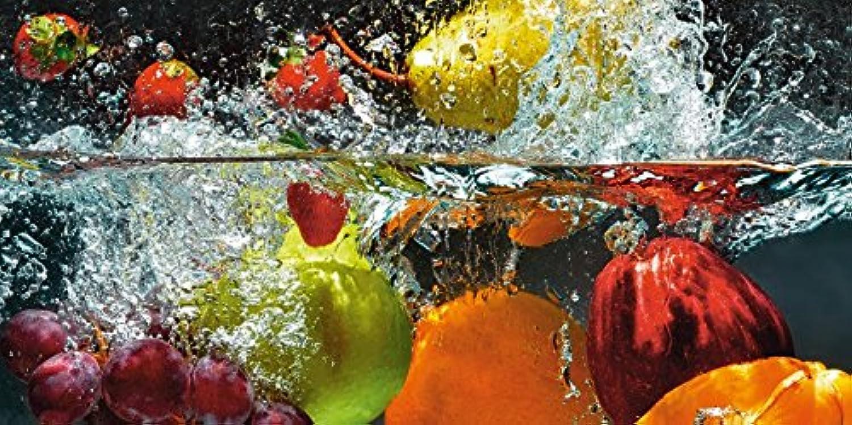 Artland Qualitätsbilder I Bild auf Leinwand Leinwandbildernmedia Spritzendes Obst auf dem Wasser Ernährung & Genuss Lebensmittel Obst Fotografie Bunt D1GJ B07D68F9NT | Deutschland Frankfurt