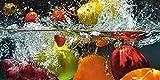 Artland Kunstdruck I Poster nmedia Spritzendes Obst auf dem