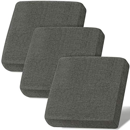 Linen Couch Cushion Covers, Sofa Cover Sofa Furniture Protector Slipcover with Bottom Tie rope, Soft Non-Slip Non-Wrinkle Non-Sticky Suitable for Chair Bench Settee Seat Loveseat Gray 3 Pieces