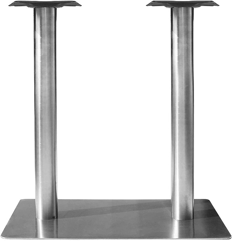 Melko Tischuntergestell Doppeltischsule Mbelfu aus Edelstahl, ca. 70 x 40 x 72 cm - kann mit einer Tischplatte Ihrer Wahl kombiniert werden