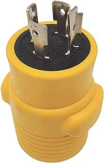 Parkworld 60417B NEMA L14-20P to 14-50R Adapter, 4 Prong Generator Twist Lock 20A Plug to RV and EV 50A Receptacle