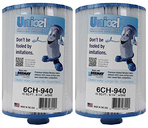 Unicel 6CH-940 Waterway Vita Aber Hot Tub and Spa Filter Replacement Cartridge for Filbur FC-0359, Pleatco PWW50P3, and Unicel 6CH-940 Filter Cartridges (2 Pack)